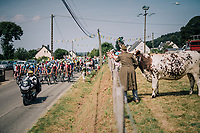 cheering the peloton on<br /> <br /> Stage 7: Fougères > Chartres (231km)<br /> <br /> 105th Tour de France 2018<br /> ©kramon