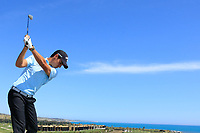 Matteo Manassero (ITA) drives from the roof of the Golf Club during the previews ahead of the Rocco Forte Sicilian Open played at Verdura Resort, Agrigento, Sicily, Italy 08/05/2018.<br /> Picture: Golffile | Phil Inglis<br /> <br /> <br /> All photo usage must carry mandatory copyright credit (&copy; Golffile | Phil Inglis)