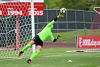 Piscataway, NJ - Sunday April 30, 2017: Kailen Sheridan during a regular season National Women's Soccer League (NWSL) match between Sky Blue FC and FC Kansas City at Yurcak Field.