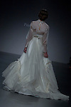 A model presents brides and party designs of Paula del Vas at the Cibeles Madrid Novias in Ifema (Alterphotos/Marta Gonzalez)