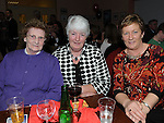 Rose Everitt, Mary Bannon and Marion Carpenter pictured at the Mattock Rangers Annual awards night held in their clubrooms Collon.