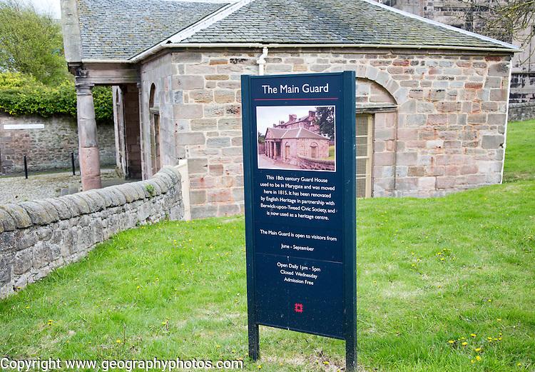 The Main Guard, historic guardhouse building, Berwick-upon-Tweed, Northumberland, England, UK