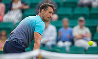 Sergiy Stakhovsky in action<br /> <br /> Photographer Alex Dodd/CameraSport<br /> <br /> Tennis - ATP World Tour - Nature Valley Open Tennis Tournament - Day 3 - Wednesday 13th June 2018 - Nottingham Tennis Centre - Nottingham<br /> <br /> World Copyright &copy; 2018 CameraSport. All rights reserved. 43 Linden Ave. Countesthorpe. Leicester. England. LE8 5PG - Tel: +44 (0) 116 277 4147 - admin@camerasport.com - www.camerasport.com