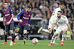 Real Madrid CF's Daniel Carvajal and FC Barcelona's Leo Messi during La Liga match. March 02,2019. (ALTERPHOTOS/Alconada)