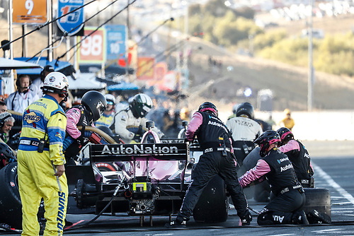 Jack Harvey, Meyer Shank Racing Honda, pit stop