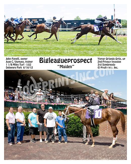 Bigleaugeprospect winning at Delaware Park on 6/16/12