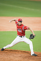 20 August 2007: Pitcher #13 Martin Schneider pitches during the Czech Republic 6-1 victory over France in the Good Luck Beijing International baseball tournament (olympic test event) at the Wukesong Baseball Field in Beijing, China.