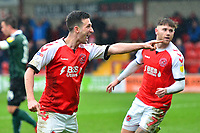 Fleetwood Town's Jason Holt celebrates scoring his side's first goal <br /> <br /> Photographer Richard Martin-Roberts/CameraSport<br /> <br /> The EFL Sky Bet League One - Fleetwood Town v Plymouth Argyle - Saturday 16th March 2019 - Highbury Stadium - Fleetwood<br /> <br /> World Copyright &not;&copy; 2019 CameraSport. All rights reserved. 43 Linden Ave. Countesthorpe. Leicester. England. LE8 5PG - Tel: +44 (0) 116 277 4147 - admin@camerasport.com - www.camerasport.com