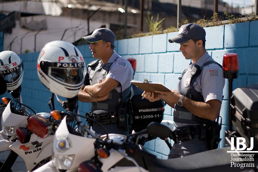 Military police in Sao Paulo keep watch. Their presence is enforced to deter and prevent crime. Civil Police on the other hand are responsible for investigations and arrests. IBJ will be initiating a defense lawyer training program in and around Sao Paulo.
