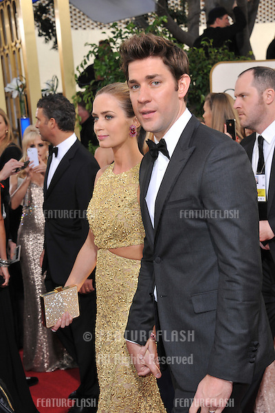 John Krasinski & Emily Blunt at the 70th Golden Globe Awards at the Beverly Hilton Hotel..January 13, 2013  Beverly Hills, CA.Picture: Paul Smith / Featureflash
