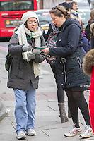 Junior Doctors picketing University College Hospital Euston Road, Picket line Royal National Throat Nose and Ear Hospital grays Inn Road, 12th Jan 2016