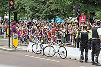 LONDON - AUGUST 07: Alistair Brownlee wins Gold for Great Britain, Javier Gomez wins Silver for Spain and Jonathan Brownlee wins Bronze for Great Britain in the Men's Olympic Triathlon, Hyde Park, London, UK. August 07, 2012. (Photo by Richard Goldschmidt) /NortePhoto.com<br /> <br /> **SOLO*VENTA*EN*MEXICO**<br /> **CREDITO*OBLIGATORIO** <br /> *No*Venta*A*Terceros*<br /> *No*Sale*So*third*<br /> *** No Se Permite Hacer Archivo**<br /> *No*Sale*So*third*
