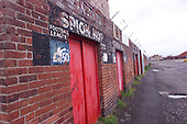 23/06/2000 Blackpool FC Bloomfield Road Ground..Kop entrance gates, visitors section.....© Phill Heywood.