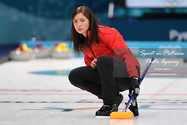 Eve Muirhead (GBR, skip). Womens Curling training. Pyeongchang2018 winter Olympics Gangneung curling centre. Gangneung. Republic of Korea. 12/02/2018. ~ MANDATORY CREDIT Garry Bowden/SIPPA - NO UNAUTHORISED USE - +44 7837 394578