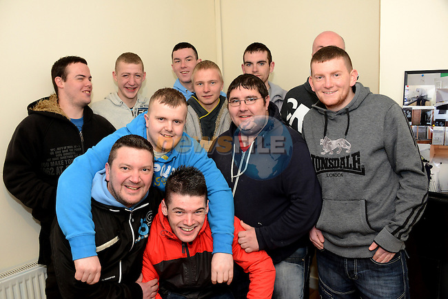 Trainees who have worked on the latest house to be refurbished by the Drogheda Training Initiative scheme pictured at the handover ceremony: Kenneth Browne, Gintaras Ceplinskas, Darryn Cleland, Mark Culligan, Ciaran Curran, Cormac Kerigan, Stephen Kerrigan, Paul Leslie, Tony McDonagh, Kieran McLouhlin and Blake Sweeney. www.newsfile.ie www.newsfile.ie