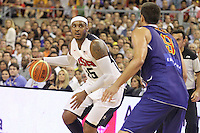 24.07.2012 Barcelona, Spain.  Pre-Olympic friendly game between Spain against USA at Palau St. Jordi. Picture shows Carmelo Antony