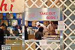 Take Out Sushi window at Norita, Japan airport.