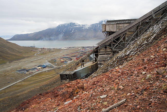 Coal Mine 2b high above Longyearbyen gives an excellent view of the valley. Spitsbergen