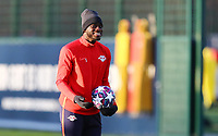 9th March 2020, Red Bull Arena, Leipzig, Germany; RB Leipzig press confefence and training ahead of their Champions League match versus Tottenham Hotspur on 10th March 2020; Dayot Upamecano 5, RB Leipzig