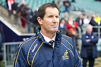 Robbie Deans, Australia Head Coach, looks on before the Cook Cup between England and Australia, part of the QBE International series, at Twickenham on Saturday 17th November 2012 (Photo by Rob Munro)