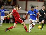 06.02.2019 Aberdeen v Rangers: Alfredo Morelos with Tommie Hoban