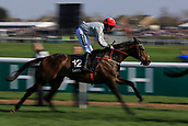 14h April 2018, Aintree Racecourse, Liverpool, England; The 2018 Grand National horse racing festival sponsored by Randox Health, day 3; AW Short on Heist runs on in The Betway Handicap Steeple Chase