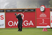 Fabrizio Zanotti (PAR) tees off the 2nd tee during Saturday's Round 3 of the 2017 Omega European Masters held at Golf Club Crans-Sur-Sierre, Crans Montana, Switzerland. 9th September 2017.<br /> Picture: Eoin Clarke | Golffile<br /> <br /> <br /> All photos usage must carry mandatory copyright credit (&copy; Golffile | Eoin Clarke)