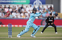 Jason Roy (England) guides through the vaunt gully area to third man during England vs New Zealand, ICC World Cup Cricket at The Riverside Ground on 3rd July 2019