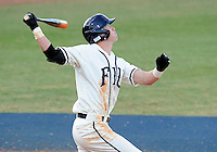 Florida International University outfielder Nathan Burns (6) plays against the University of North Florida. FIU won the game 6-4 on March 13, 2012 at Miami, Florida.
