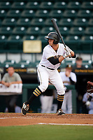 Bradenton Marauders designated hitter Jordan George (10) at bat during the second game of a doubleheader against the Tampa Yankees on June 14, 2017 at LECOM Park in Bradenton, Florida.  Tampa defeated Bradenton 5-1.  (Mike Janes/Four Seam Images)