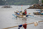 13 February 2019,Pelabuhan Ratu,Sukabumi Regency, West Java, Indonesia. A fishering boat departs the crowded fishing port at Pelabuhan Ratu. The local fisherman say that people smugglers have not been active in the area for a long time in the wake of the Australian Government's concern that boats will once again start trafficking people to Australia with the new Medical legislation that has been passed. Picture by Graham Crouch/The Australian