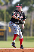 Brendan Lobban #34 of the St. John's Red Storm during a game vs the Ohio State Buckeyes at the Big East-Big Ten Challenge at Walter Fuller Complex in St. Petersburg, Florida;  February 20, 2011.  Ohio State defeated St. John's 8-7 in 11 innings.  Photo By Mike Janes/Four Seam Images