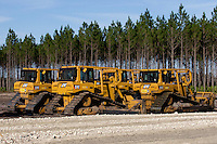 FORT MCCOY, FLA. - FEBRUARY 25, 2012: Construction is underway on the Adena Beef harvesting facility and surrounding pasture land near Fort McCoy, Florida on February 25, 2012. The harvesting facility is scheduled to be completed in February 2013. Photo by Matt May