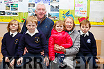 Rory and Rurdh O'Brien, grandparents Gerard and Goretti Doyle and granddaughter Sadhbh and grandson Fionn O'Brien at the Blennerville National schools Grandparents day on Friday last.