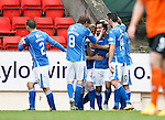 St Johnstone v Dundee United...26.09.15  SPFL   McDiarmid Park, Perth<br /> Simon Lappin celebrates his goal<br /> Picture by Graeme Hart.<br /> Copyright Perthshire Picture Agency<br /> Tel: 01738 623350  Mobile: 07990 594431