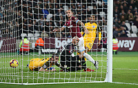 West Ham United's Marko Arnautovic scores his side's first goal  <br /> <br /> Photographer Rob Newell/CameraSport<br /> <br /> The Premier League - West Ham United v Brighton and Hove Albion - Wednesday 2nd January 2019 - London Stadium - London<br /> <br /> World Copyright &copy; 2019 CameraSport. All rights reserved. 43 Linden Ave. Countesthorpe. Leicester. England. LE8 5PG - Tel: +44 (0) 116 277 4147 - admin@camerasport.com - www.camerasport.com