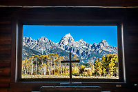Autumn at the Chapel of the Transfiguration  in Grand Teton National Park.