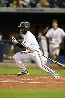 Vanderbilt Commodores outfielder Ro Coleman (1) at bat during a game against the Indiana State Sycamores on February 20, 2015 at Charlotte Sports Park in Port Charlotte, Florida.  Vanderbilt defeated Indiana State 3-2.  (Mike Janes/Four Seam Images)