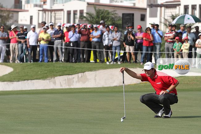 Thomas Aiken (RSA) on the 18th during Round 4 of the 2013 Avantha Masters, Jaypee Greens Golf Club, Greater Noida, Delhi, 17/3/13..(Photo Jenny Matthews/www.golffile.ie)