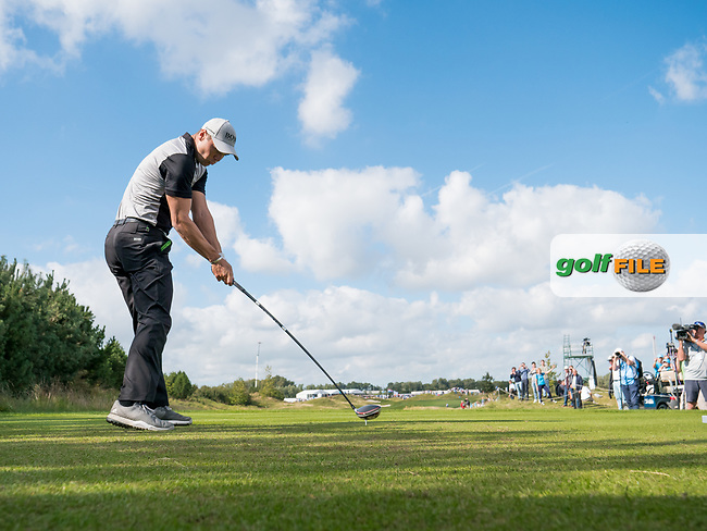 Martin Kaymer (GER) in action on the 9th hole during the 1st round at the KLM Open, The International, Amsterdam, Badhoevedorp, Netherlands. 12/09/19.<br /> Picture Stefano Di Maria / Golffile.ie<br /> <br /> All photo usage must carry mandatory copyright credit (© Golffile   Stefano Di Maria)