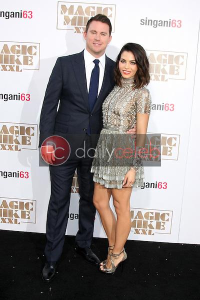 "Channing Tatum, Jenna Dewan-Tatum <br /> at the ""Magic Mike XXL"" Premiere, TCL Chinese Theater, Hollywood, CA 06-25-15<br /> David Edwards/DailyCeleb.com 818-249-4998"