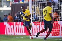 Action photo during the match Ecuador vs Haiti at MetLife Stadium Copa America Centenario 2016. ---Foto  de accion durante el partido Ecuador vs Haiti, En el Estadio MetLife Partido Correspondiante al Grupo - B -  de la Copa America Centenario USA 2016, en la foto: festejo de gol de Enner Valencia<br /> <br /> -- 12/06/2016/MEXSPORT/Javier Ramirez.