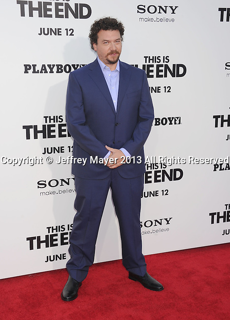 WESTWOOD, CA- JUNE 03: Actor Danny McBride arrives at the 'This Is The End' - Los Angeles Premiere at Regency Village Theatre on June 3, 2013 in Westwood, California.