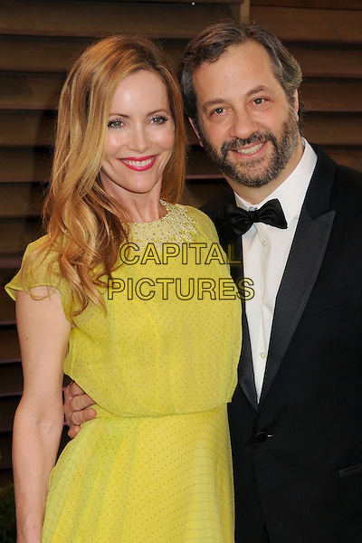02 March 2014 - West Hollywood, California - Leslie Mann, Judd Apatow. 2014 Vanity Fair Oscar Party following the 86th Academy Awards held at Sunset Plaza.  <br /> CAP/ADM/BP<br /> &copy;Byron Purvis/AdMedia/Capital Pictures