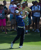 Robert Allenby of Australia in action during his third round at the Emirates Australian Open Golf