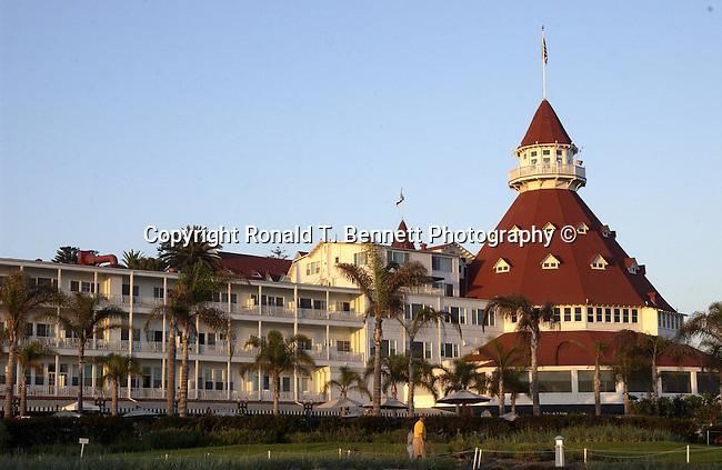 "Hotel del Coronado ""The Del,"" across San Diego Bay Coronado California, California Fine Art Photography by Ron Bennett,"