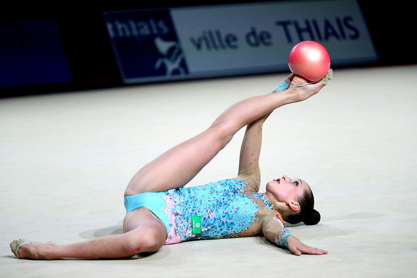 Polina Khonina of Russia performs at Thiais Grand Prix on March 25, 2018.
