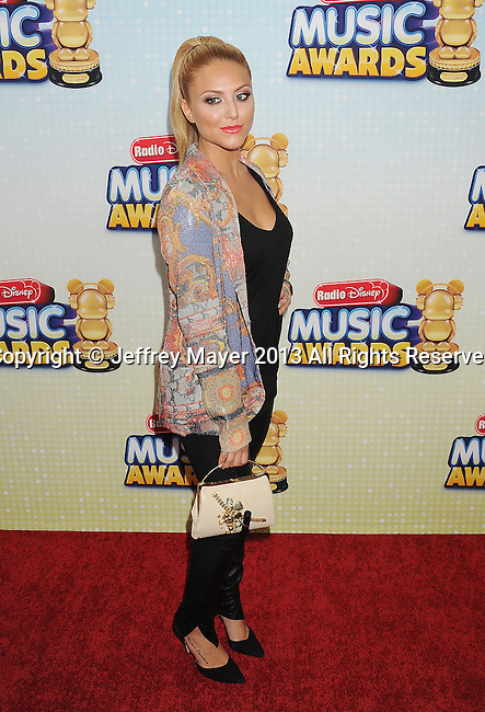 LOS ANGELES, CA- APRIL 27: Actress Cassie Scerbo arrives at the 2013 Radio Disney Music Awards at Nokia Theatre L.A. Live on April 27, 2013 in Los Angeles, California.