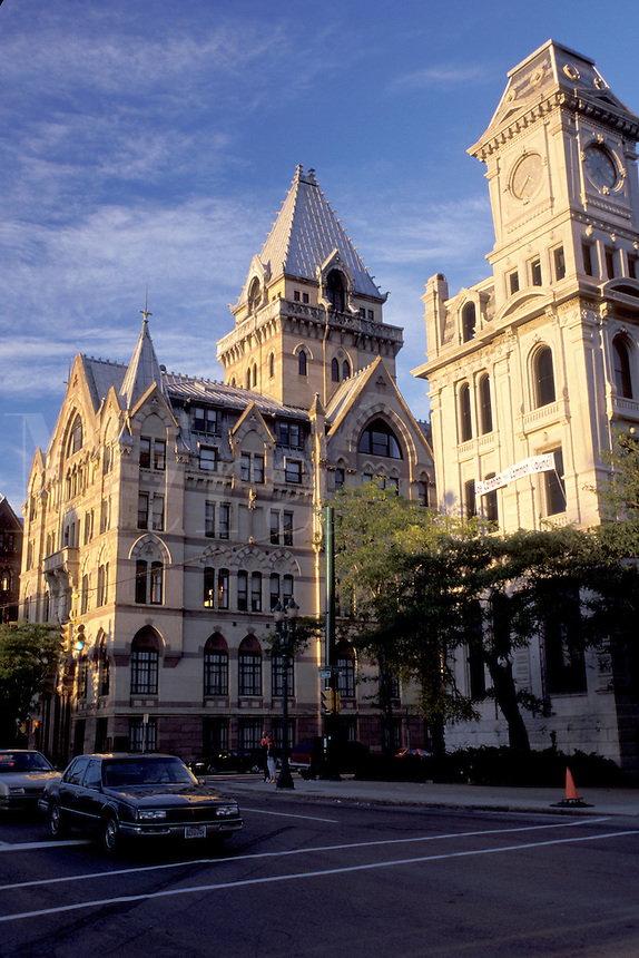 Syracuse, New York, skyline, NY, Downtown Syracuse.