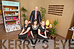 Staff of the new Carlton Spa Roses and Herbs Kiva Moriarty, Orla Kenny and Alexandra Rowan with Anthony Smiddy (General Manager of the Carlton Hotel, Tralee)